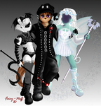G.C. Sabin-le-rose and friends by Fairy-Nuff
