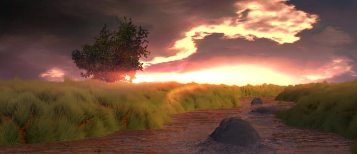 Environment Scene 2K rendering by t43tb0wh4x0r