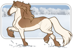 Trotting Off In Snow by Cat-Orb-Stables