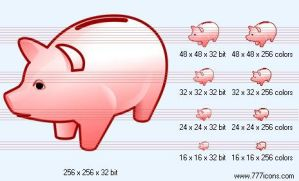 Piggy-bank Icon by phorago