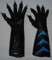 Lizard Hands Black blue by Arooki