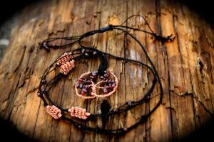 Garnet Tree of Vitality Adjustable Necklace by SpectralSun