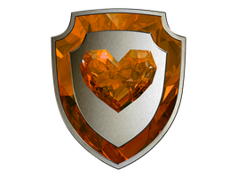 Crystal Heart Shield - EXTRAS BROWNISH TOPAZ DUNNO by SwedishRoyalGuard