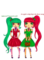 Apple twins by rainbowstar-chan