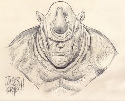 SKETCH OF RHINO by orabich