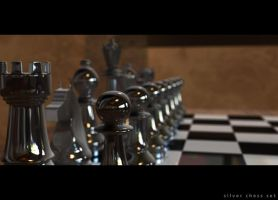 silver chess set by saberrider