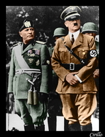 Mussolini and Hitler by phscyrillo