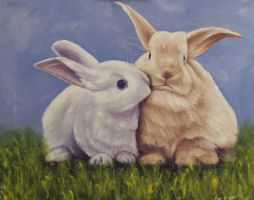 Two Rabbits by mp2015