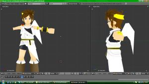 Kid Icarus: Uprising - Pit papercraft (WIP) by nin-mario64