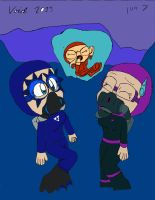 Ice diving with Creepie, Cyberria and Megan by emmanu888