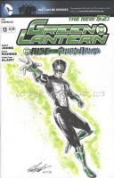 Green Lantern Sketch Cover by tedwoodsart