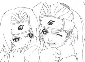 Sakura and Ino by dnryuuzaki