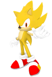 Super Sonic Channel Pose by Silverdahedgehog06