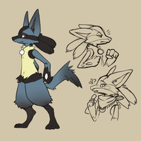 Lucario by quartine