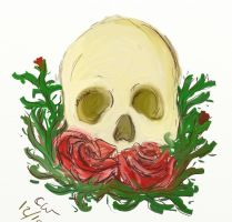 Rose and Skull Sketch by BiotTechElf