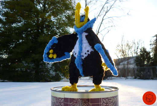 #395-Empoleon Pipe Cleaner Figure (COMM) by PCWOverlord
