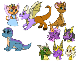 Spyro-type Doodles 2 by Draco-Digi