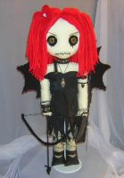 Goth Cupid Rag Doll 08160 by Zosomoto