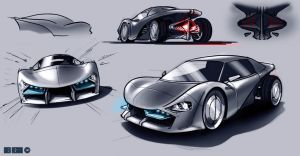 Car Sketch by MarkButtonDesign