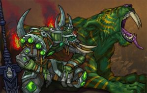PVP Troll Hunter with Mount by otherdane
