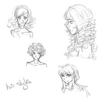 Hair style doodles by AfterEverAfter