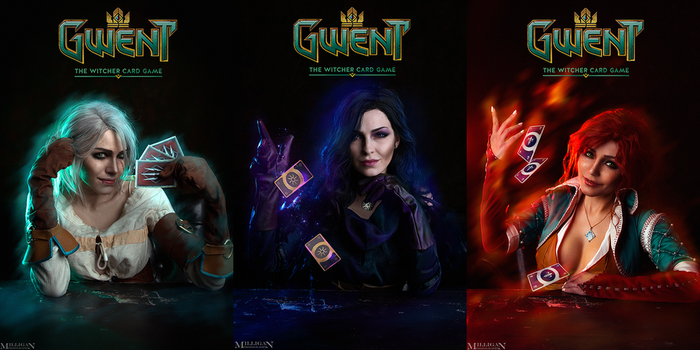 The Witcher - GWENT - Sorceresses by MilliganVick