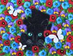 Prowling Through The Pansies by Kstar2105