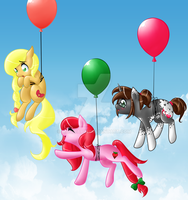 Balloon poniis~ by MagicaRin