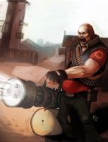 TF2 Artbook: Hoovy Weapons Guy by Bekuhz
