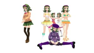 All of My Nanami Gumi Models by vocaloidandlegolover