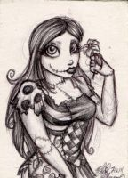 Sally Sketch Card by UnderCoverCottonswab