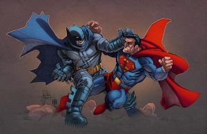 Dark Knight vs Superman by AlonsoEspinoza