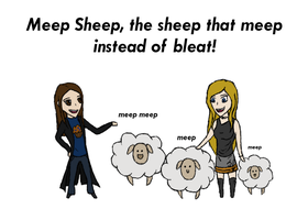 Meep Sheep by EbonyClokk