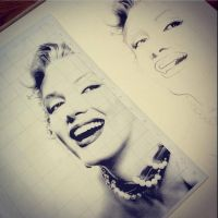 Marilyn WIP by al-turnertive