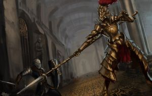 Dark Souls: Dragonslayer Ornstein by SharkAlpha