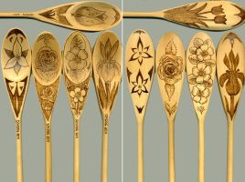Floral Spoons by amberchrome