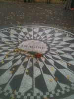Imagine at Strawberry Fields by strongbad-joe132