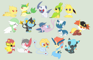 Pokebabies Adoptables CLOSED by C0I0R