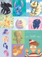 Bunch of fan art for buttons by Megalosaurus