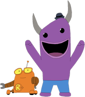 Robot and Monster by MollyKetty