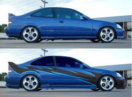 hot blue civic by fastworks