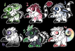 Krittur cubs point adoptables by Shinigami-Insane