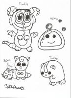 Cute Baby Monsters by Zethasaurus