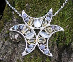 Moonstone, Citrine, Flourite by MoonLitCreations
