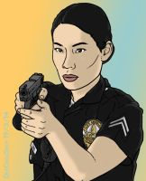 Lucy Liu as 'Jessica Tang' by deecrowseer