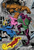 The Fantastic Four vs Kang, by John Byrne by NewtypeS3