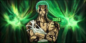 ZORO - One piece (Smudge Signature) by aking144