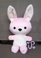 Pink Bunny Plushie FOR SALE by UltraPancake