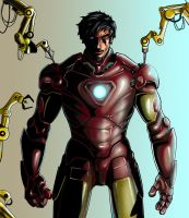 Tony Stark Colored by holyghost13th