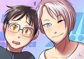 Victuri - Yuri on Ice fanart by indorak